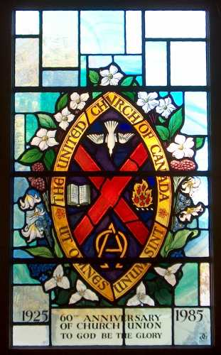 Crest stained glass
